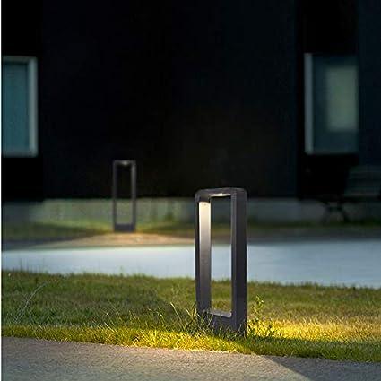 30CM Grau//kaltwei/ß Topmo-plus Stehleuchte au/ßenleuchte// 7W LED bridgelux COB Wegeleuchte Aluminium LED wegelampe Gartenleuchte IP65 Terasse//Garten//Korridor//Flurbeleuchtung 770LM 6000K