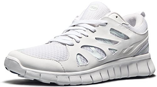 TSLA TF-E621-WHT_Men 7 D(M) Men's Lightweight Sports Running Shoe E621/E630 (Recommend 1 Size up)