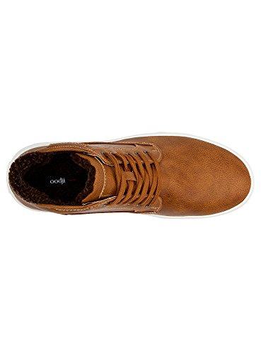 3739b en Homme Ultra Similicuir avec Finition Marron oodji Chaussures Contrastante fpzxqCB