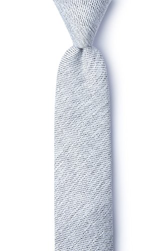 Beau Light Gray Cotton Skinny Tie