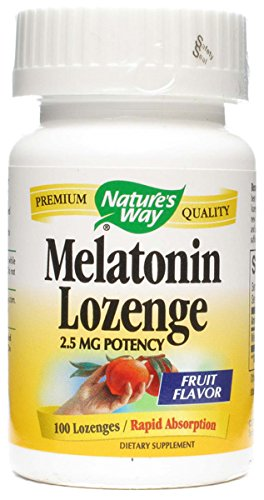 Natures Way, Melatonin Lozenges 500 Mcg, 100 Tablets