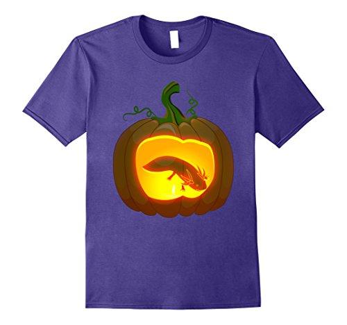 Mens axolotl Halloween shirt Medium Purple - Axolotl Costume