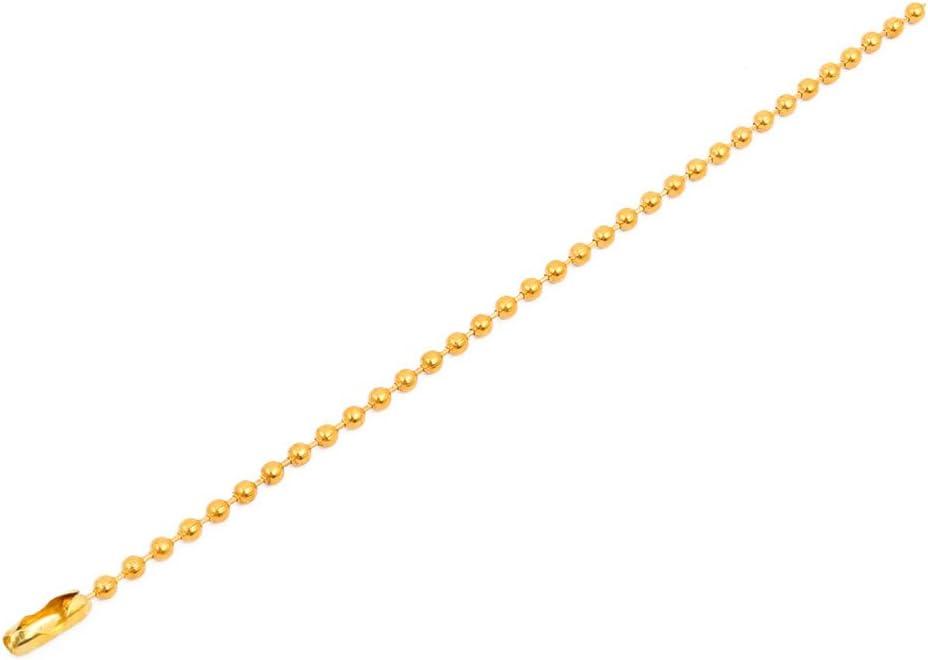 X-Dr Llavero de cadena de bola de corchete de hierro chapado en metal de 2.4mm de diámetro 15cm de longitud (71bf256476e0a995799308854519e348)