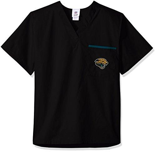 NFL Scrub Dudz Solid Scrub Top, Jacksonville Jaguars,