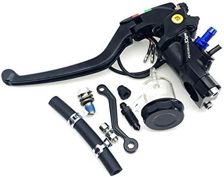 NO LOGO ZWQ-Brake 22 mm CNC 19 RCS Motocicleta Cilindro Maestro del Freno Cable del Embrague Bomba de Freno Radial Universal for Honda Yamaha Suzuki Kawasaki Color : Grey C