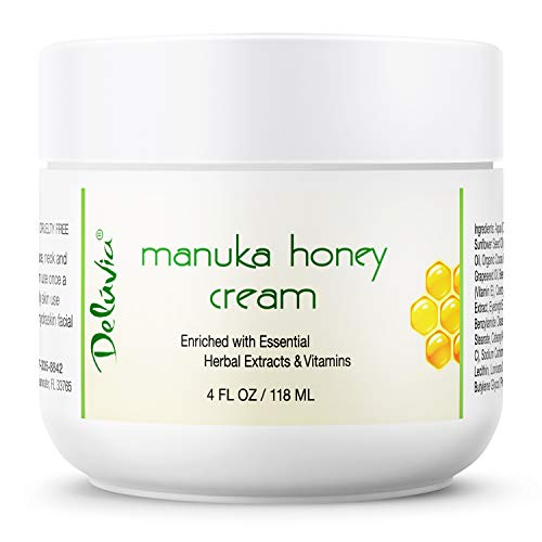 Honey Cream for Face and Body | Certified Active 16+ | Organic Aloe Vera | Anti Aging | Helps Relieve Dry Skin, Eczema, Rosacea, Shingles and Psoriasis. by Deluvia ()