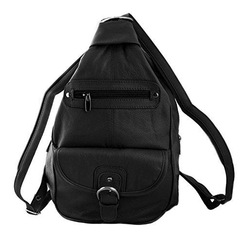 c0411c5de06a Women Genuine Leather Sling Purse Handbag Shoulder Bag Backpack Slouch  Organizer with Free Wayfarer REVO Sunglasses - Buy Online in UAE.