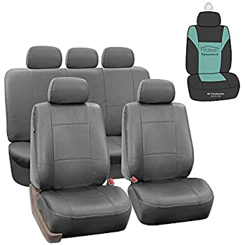 Beige FH Group FB033BEIGE102 Bucket Seat Cover Modernistic Airbag Compatible Set of 2