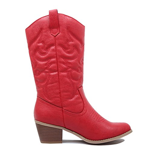 Western West Cowboy Pu Boots Blvd Womens Red Miami nTxrUTzIw