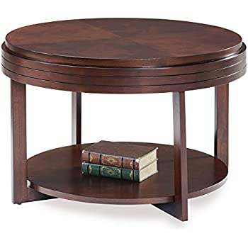 jofran urban nature wood round coffee table in. Black Bedroom Furniture Sets. Home Design Ideas