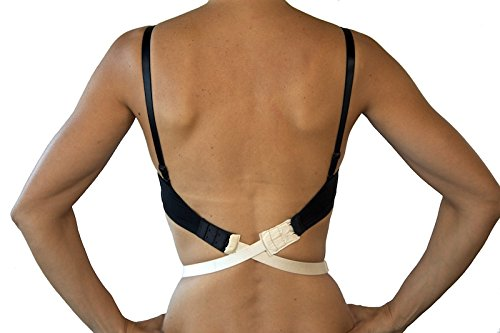 (Fashion First Aid Women's Expectations Low Back Bra Converters with 2 Hooks, Beige, One Size)