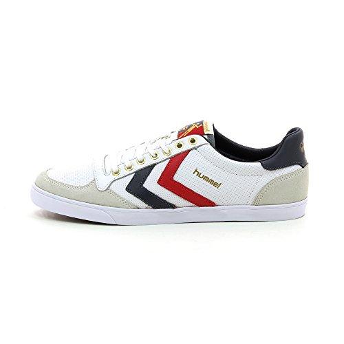 Hummel SLIMMER STADIL LOW 63115, Unisex - Erwachsene, Sneaker weiß
