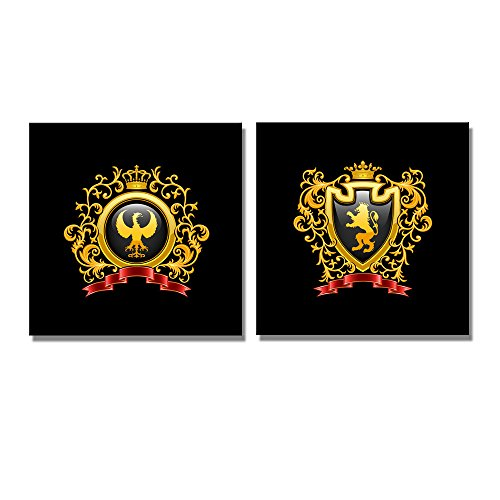 Coat of Arms Wall Decor ation x 2 Panels