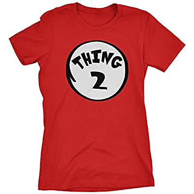 Thing 2 Women's T-shirt Funny Halloween Costume Xmas Humor Dr. Cat 1 Tee Shirt