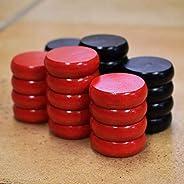 26 Tournament Size Crokinole Discs (Black &