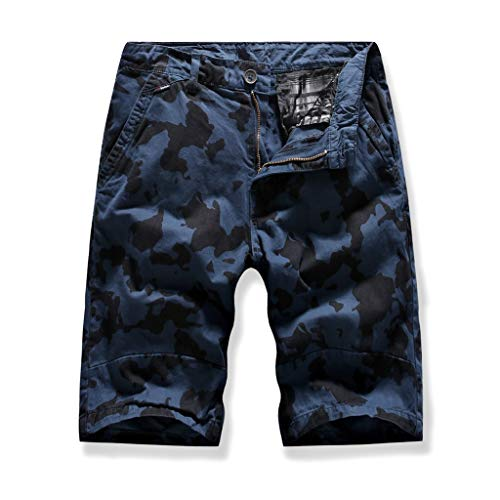 Leadmall Men's Tactical Shorts - Men Twill Lightweight Camping Camo Work Outdoor Pants - Casual Sports Jogger Trousers