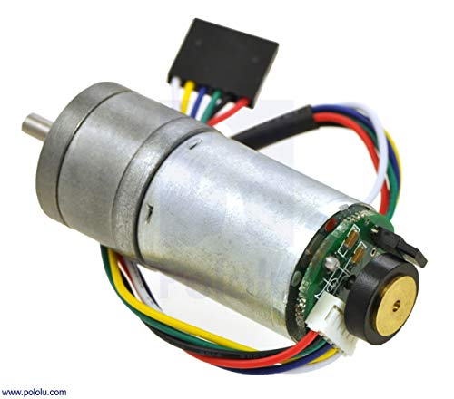 Price comparison product image Pololu 227:1 Metal Gearmotor 25Dx56L mm LP 6V with 48 CPR Encoder (Item 2289)