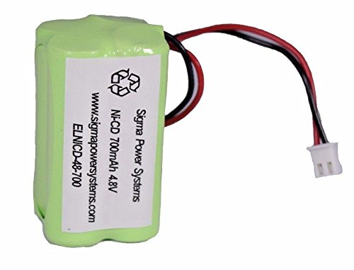 SPS Brand 4.8V 700mAh Rechargeable Replacement battery for Emergency Light Cooper Industries 4-TD-800 AA-HP ( 16 PACK)