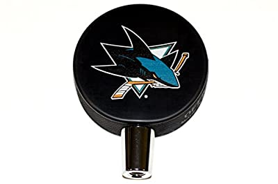San Jose Sharks Basic Logo Hockey NHL Puck Beer Tap Handle