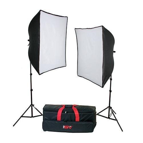 Smith Victor KSB-1000 2- Light Economy Softbox Light Kit (1000 total ()