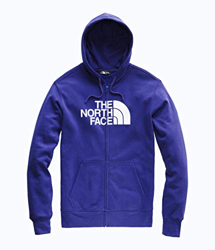 The North Face Men's Half Dome Full Zip Hoodie, Aztec Blue/TNF White, Size - Face North Mens Jacket Hooded