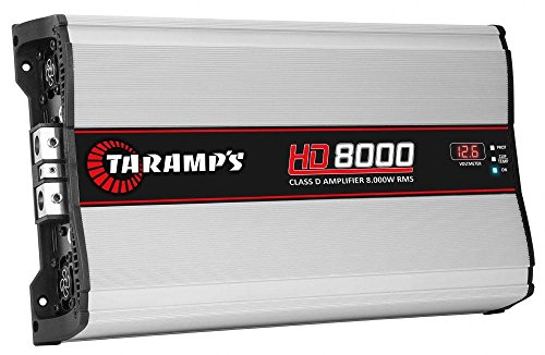 TARAMPS Single Channel Very High Definition 8000w Rms Power Auto Audio Amplifier And Built-In Crossover Filters
