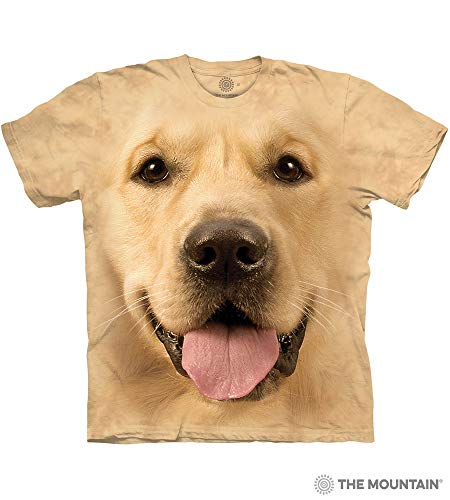 The Mountain Big Face Golden Adult T-Shirt, Yellow, Large ()