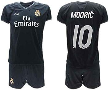 Conjunto 2ª Equipación Fútbol Luka Modric 10 Real Madrid C.F. ...