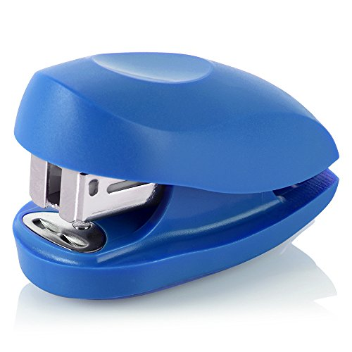 Swingline Mini Stapler, Tot, 12 Sheet Capacity, includes Built-In Staple Remover & 1000 Standard Staples, Blue - S7079172