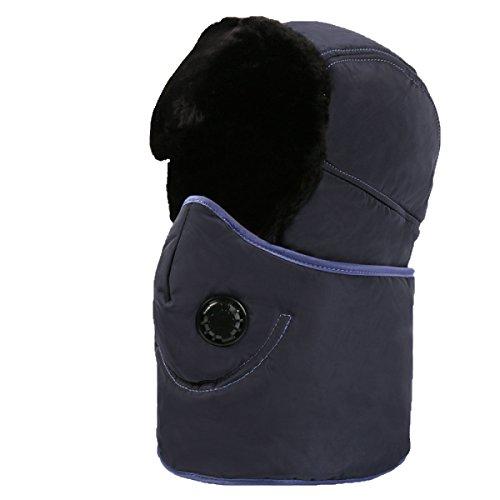 Esquí Navy Hat Winter De El Mens A Flap Viento Prueba De Ear Patinaje Para Warm Ushanka Máscara Hikin Unisex Bomber SOOCO aBRzzq