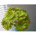 One-Dozen-Neon-Yellow-Gerbera-Daisy-Bouquet-3-Paper-Flowers-on-Stems-Lemon-Gerber-Daisies
