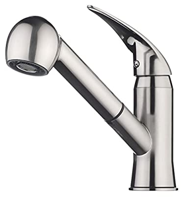 pH7® 82H20 1-hole Lead-free Brass Pull-out Kitchen Sink Faucet; 1-handle Kitchen Faucet; Excellent Finish, and Coordinating Shape