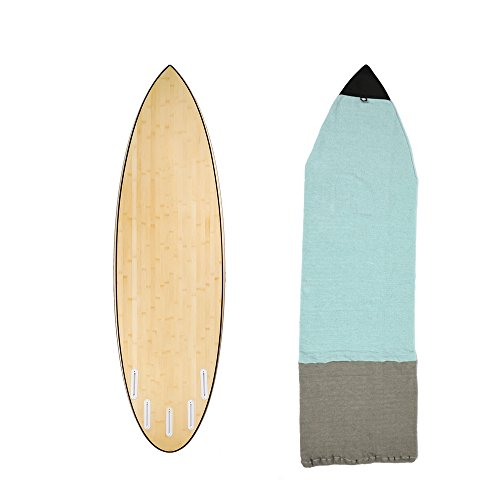 6'0''Surfboard Sock Cover 4Colors Light Protective Stretch Sock Bag for your Surf Board Pointed Nose (A)