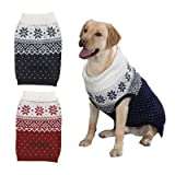 Classy Snowflake Warm Dog Sweater - XXLarge Blue