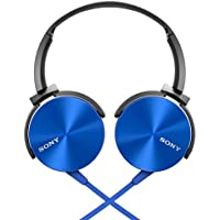 Gain Sony MDRXB450AP Extra Bass Smartphone Headset (Blue) save