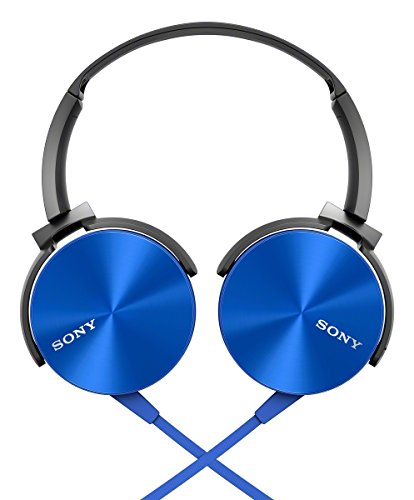 Sony MDRXB450AP Extra Bass Smartphone Headset (Blue)