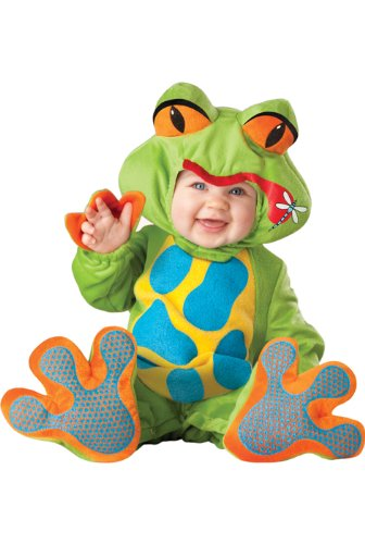 InCharacter Costumes Baby's Lil' Froggy Costume, Green/Blue/Yellow/Orange, Medium (12-18 Months)]()