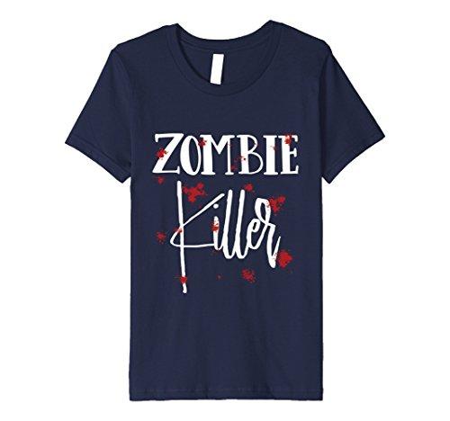Kids Halloween Costume Zombie Killer Bloody T-Shirt 10 (Halloween Costume Zombie Killer)