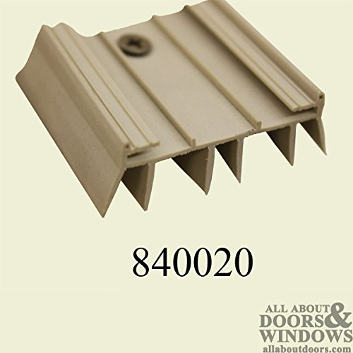 Door Parts: Bottom/Sweep, Slide on, Fin Type - Beige Color