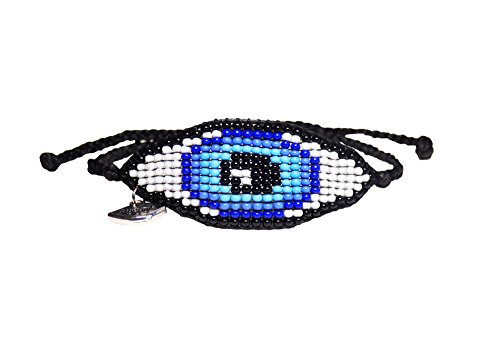 Ayounik Adjustable Baby Evil Eye Handmade Beaded Blue Bracelet
