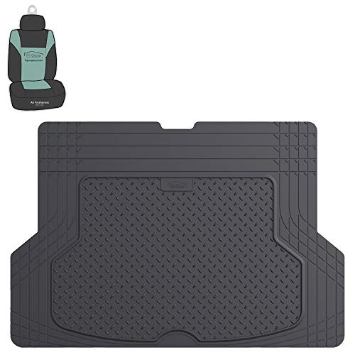 FH Group F16406 Premium Trimmable Vinyl Cargo Mat, Gray Color w. Free Air Freshener- Fit Most Car, Truck, SUV, or Van