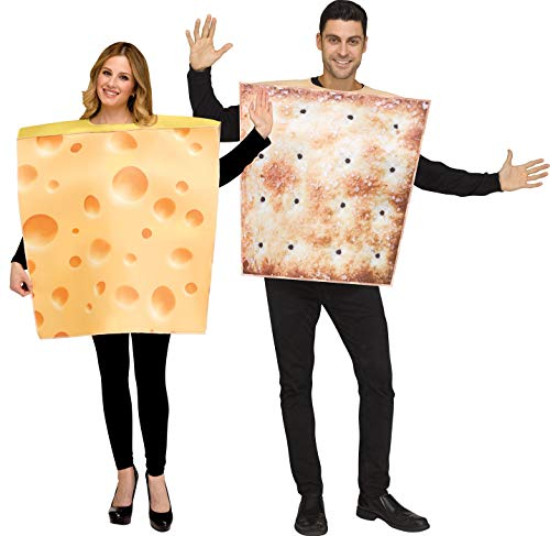 Fun World Cheese and Cracker Costumes for Adults -