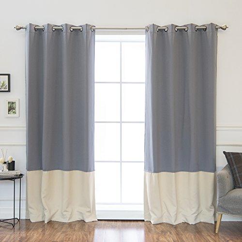 Beige/grey Curtains: Amazon.com