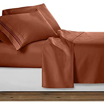 Amazon.com: 1500 Thread Count Egyptian Quality Bed Sheet Set-King ...