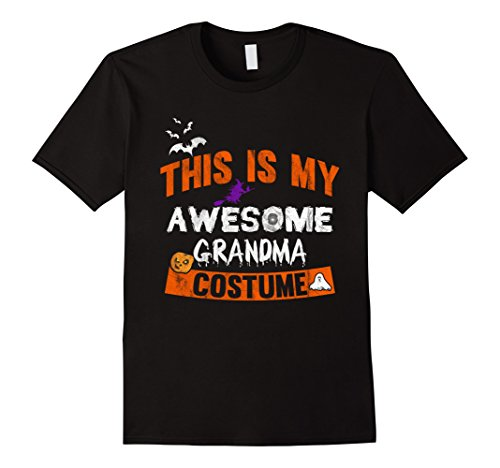 Awesome Double Halloween Costumes (Mens This is my Awesome Grandma Costume Shirt Halloween Tee 2XL Black)