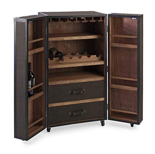 Imax 87633 Schultz Rolling Wine Trunk Cabinet (Furniture Trunk Bar)