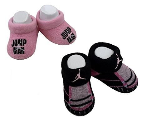 Nike Jordan Infant New Born Baby 0-6 Months 2 Pair Booties - Pink Jordan Jacket
