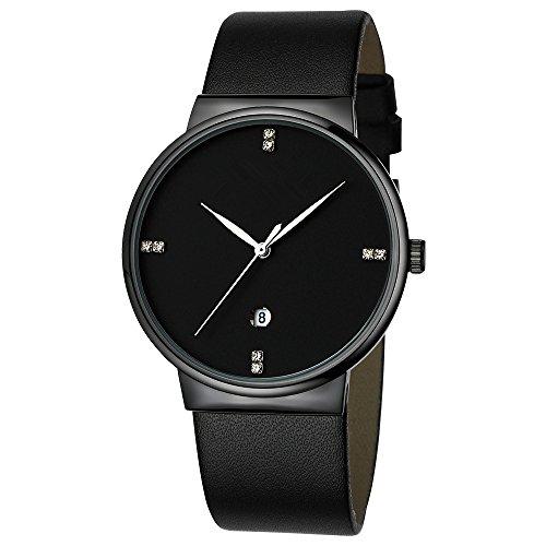 Mens-Watches-Slim-Men-Watch-Quartz-Watch-Black-Leather-Strap-Men-Wristwatches-Watch