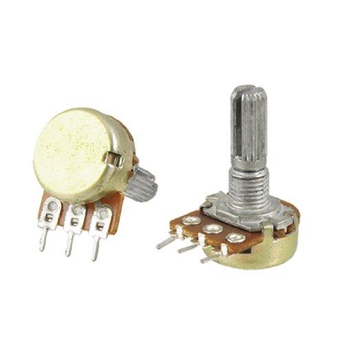 26 5 Piece 100K Ohm 3 Terminals Rotary Shaft Potentiometer ()