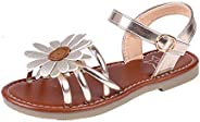 Litfun Kids Girls Cute Flower Open Toe Flat Strap Summer Sandals (Toddler/Little Kid/Big Kid) (10 M US Toddler